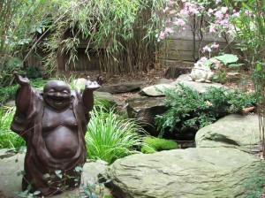 Happy the Buddha is glad it's Spring!