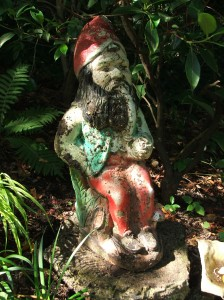 Ralph, my wise, old garden gnome.  He sees all.